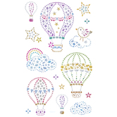 Hot Air Balloon Rhinestone Stickers