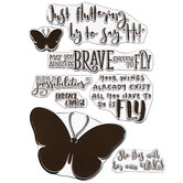 Butterfly Inspirational Quotes Clear Stamps