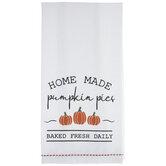 Home Made Pumpkin Pies Kitchen Towel