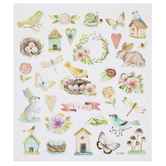 Birds & Bunnies Foil Stickers