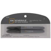 Black Bullet Tip Dry Erase Markers - 2 Piece Set