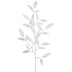 White Bamboo Leaves Branch