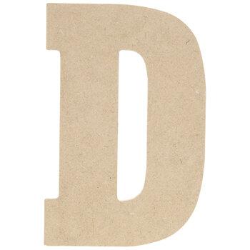 """Wood Letter D - 5"""""""