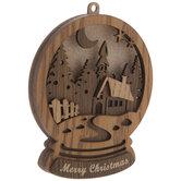 Church Woods Snow Globe Ornament