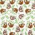 Sleepy Sloths Flannel Fabric