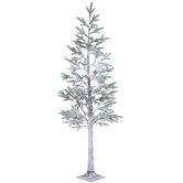 Snowy Pine Pre-Lit Christmas Tree - 7'