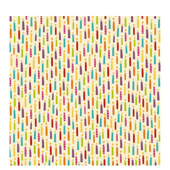 """Party Candles Scrapbook Paper - 12"""" x 12"""""""