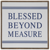 Blessed Beyond Measure Wood Wall Decor