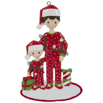 Red Pajamas Family Personalized Ornament