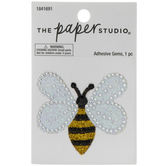 Bee Glitter & Rhinestone Sticker