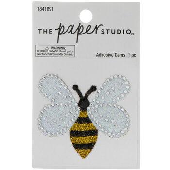 Bee Glitter & Rhinestone Sticker