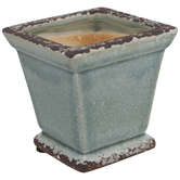 Distressed Square Vase