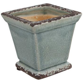 Distressed Square Vase