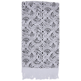 White, Black & Gray Ogee Kitchen Towel