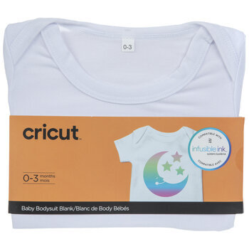White Cricut Baby Bodysuit