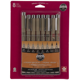 Black Archival Ink Pens - 8 Piece Set