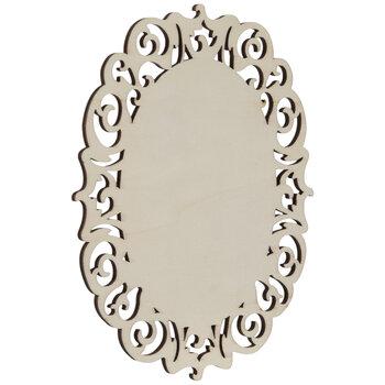 Ornate Oval Wood Shape