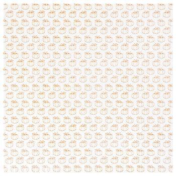 """Pumpkins Foil Scrapbook Paper - 12"""" x 12"""""""