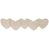 Heart Banner Wood Shape