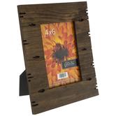 "Dark Brown Wood Plank Frame - 4"" x 6"""