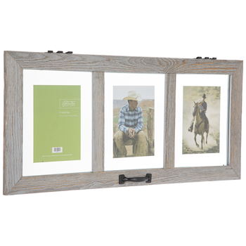 Distressed Gray Float Collage Frame