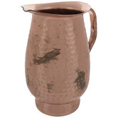 Copper Dimpled Metal Pitcher