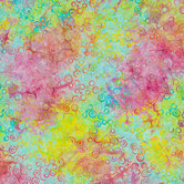 Rainbow Bubble Batik Fabric