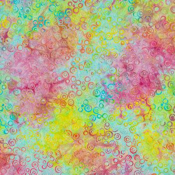 Rainbow Bubble Batik Fabric