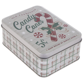 Old Fashioned Candy Canes Tin Box