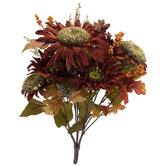 Sunflower & Berry Bush