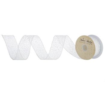 "Glitter Wired Edge Netting Ribbon - 1 1/2"""