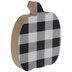 Black & White Buffalo Check Wood Pumpkin