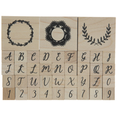 Alphabet & Filigree Rubber Stamps