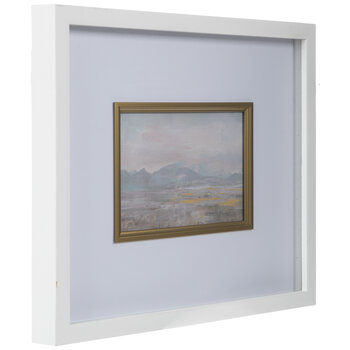 Abstract Landscape Framed Wood Wall Decor
