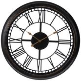 Black Open Back Wall Clock