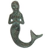 Praying Mermaid Metal Wall Decor