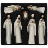Distressed White Nativity Scene