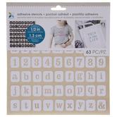 Serif Alphabet & Number Adhesive Stencils