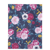 """Jewel Tone Floral Scrapbook Paper - 8 1/2"""" x 11"""""""