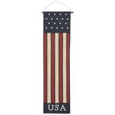 Painted USA Flag Wall Decor