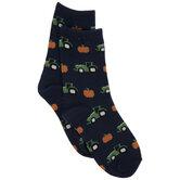Tractor & Pumpkin Kids Crew Socks
