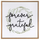 Forever Grateful Wood Wall Decor