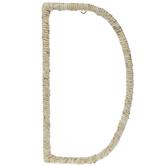 Cornstalk Wrapped Letter Wall Decor - D