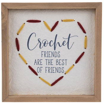 Crochet Friends Wood Wall Decor