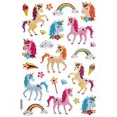 Unicorn & Rainbow Puffy Stickers