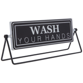 Wash & Brush Rotating Metal Decor