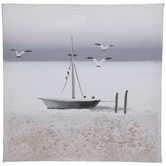 Textured Sailboat & Birds Canvas Wall Decor