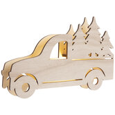 Light Up Wood Truck With Trees