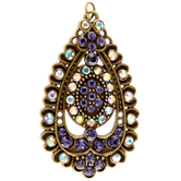 Teardrop Pendant With Crystals