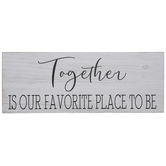 Together Is Our Favorite Wood Decor